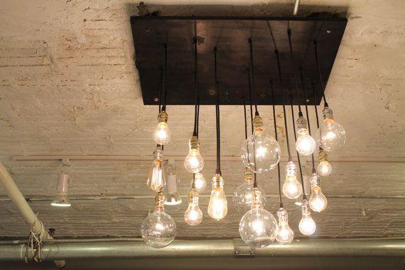 17 beste idee n over industri le kroonluchter op pinterest lichtarmaturen rustieke lampen en - Licht industriele vintage ...