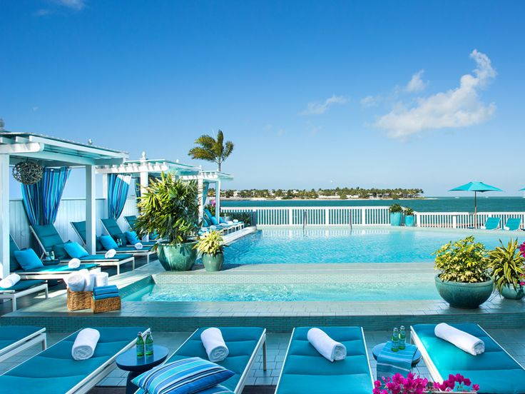 Blue paradise... at Ocean Key Resort Pool & Bar, Key West.