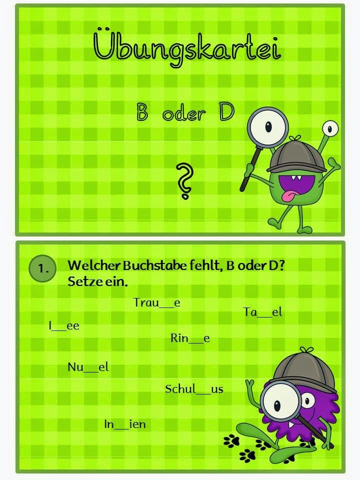 ABC-Katze: Kartei B oder D