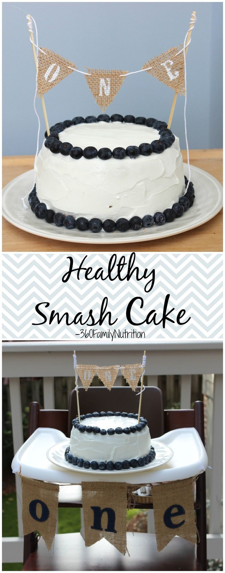 Healthy Smash Cake!  Give the little one a healthier 1st Birthday Cake!