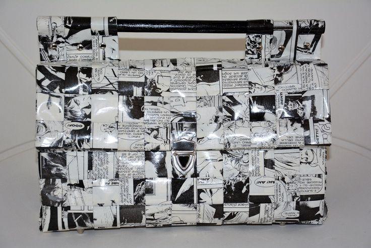 Borsa a mano in carta riciclata