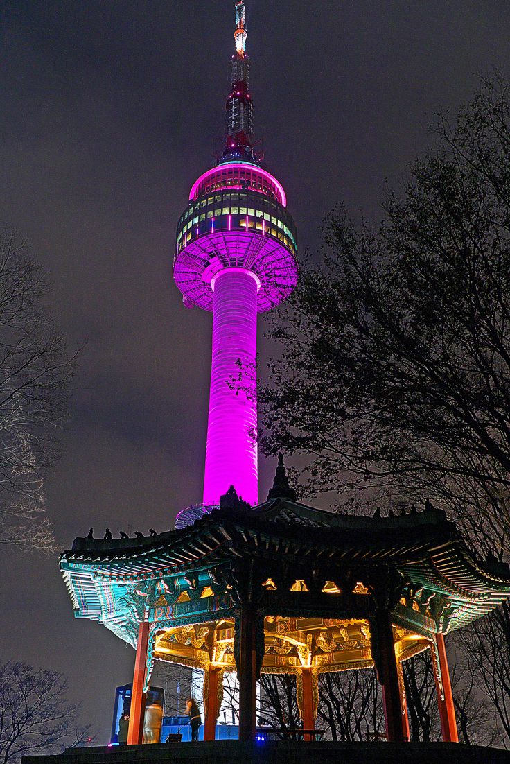 A beautiful #view of Namsan Tower #seoultower in #seoul