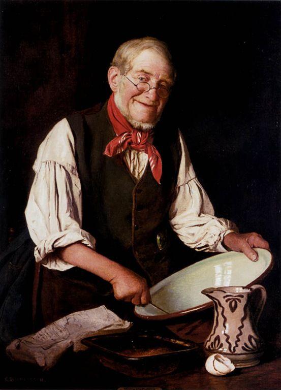 Charles Spencelayh (Rochester, Kent, Inglaterra, 27 de outubro de 1865 – 25 de junho de 1958) - Mixing the pudding