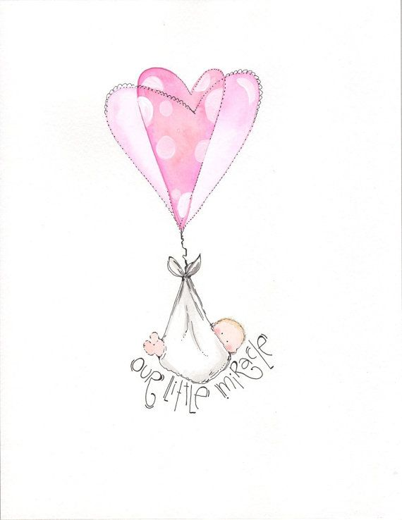 8x10 personalized new baby girl nursery art illustration for by onetinybutterfly