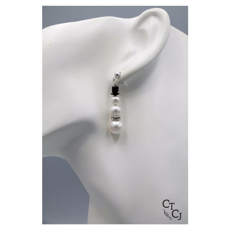 Something to celebrate the winter season. Swarovski pearl and crystal snowmen! What design will suit you?
