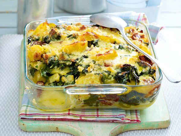 Günstig kochen - preiswerte Gerichte für jeden Tag - spinat-kartoffel-gratin