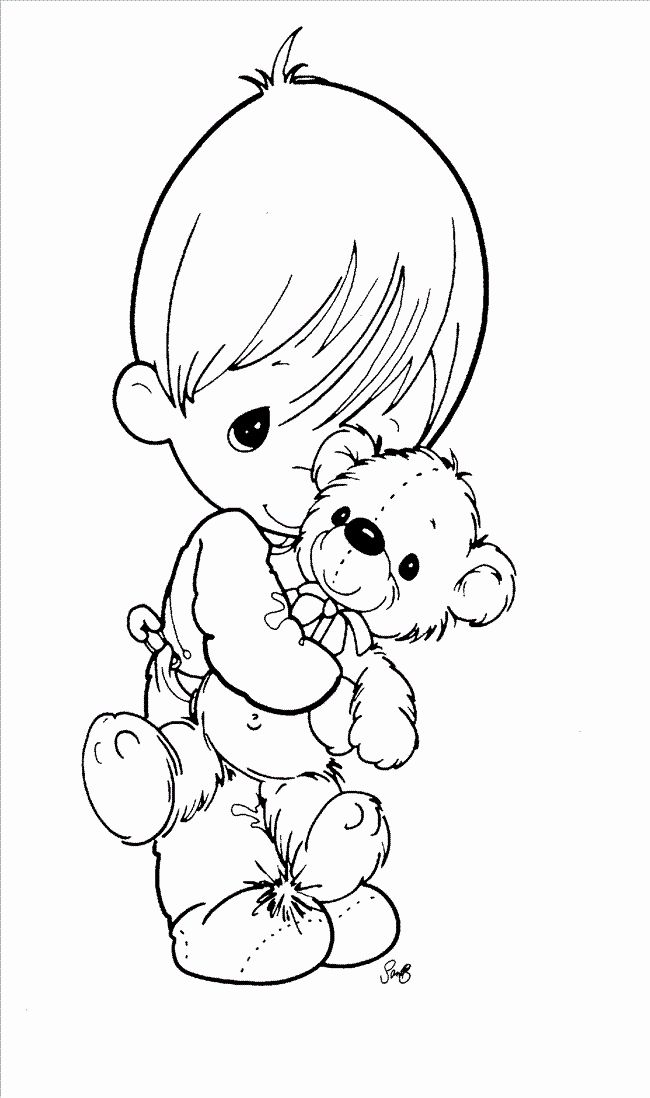 Baby Coloring Pages For Kids Fresh Precious Moments Baby Boy Coloring Pages In 2020 Precious Moments Coloring Pages Angel Coloring Pages Baby Coloring Pages