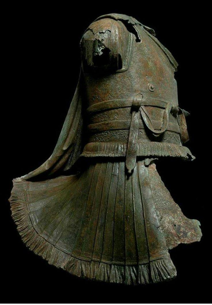 Bronze statue of a rider wearing a cuirass. Greek 2nd c. BC.