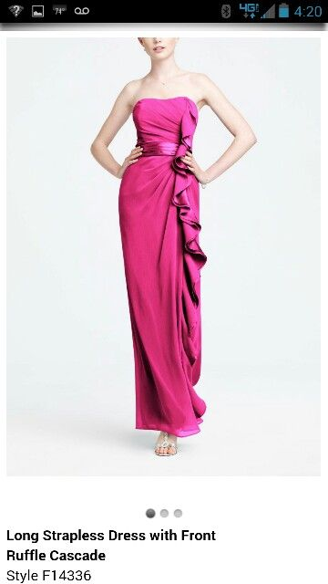 Begonia bridesmaid dress