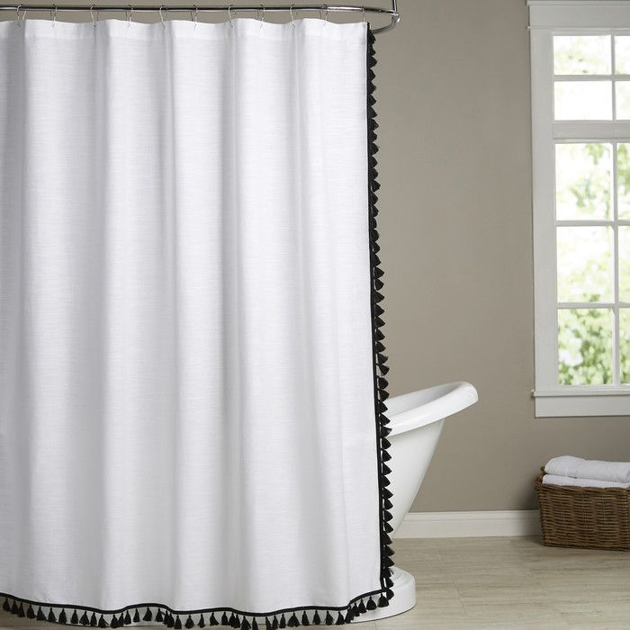 You'll love the Shelley Tasseled Shower Curtain at AllModern - With Great Deals on modern Bath  products and Free Shipping on most stuff, even the big stuff.