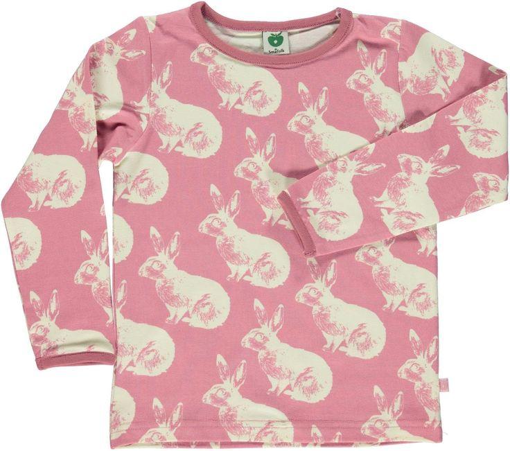 Smafolk l/s tee - Rabbit - Blush Retro Baby Clothes - Baby Boy clothes - Danish Baby Clothes - Smafolk - Toddler clothing - Baby Clothing - Baby clothes Online