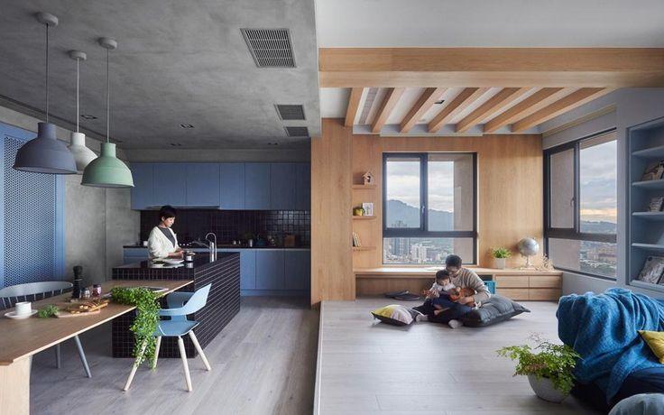 Интерьер небольшой квартиры на Тайване для всей семьи