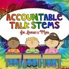 Accountable Talk Stems are GREAT for getting kids to TALK math and TALK literacy!  I LOVE using these in my classroom to encourage students to thin...