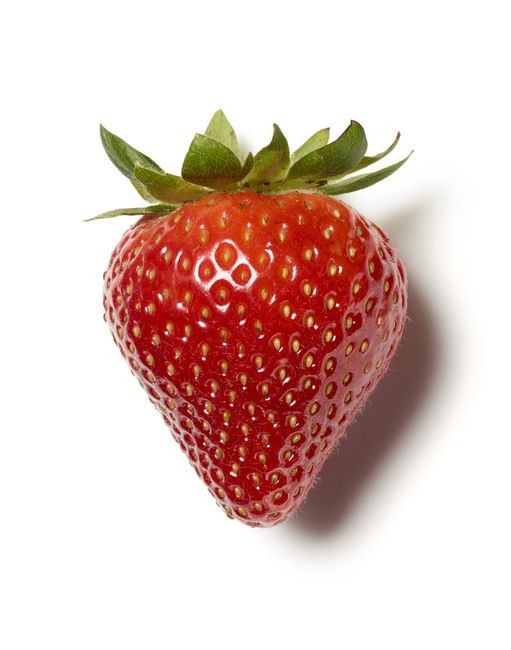 Close up of one strawberry