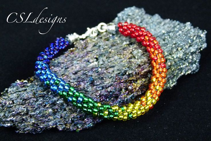 In this tutorial I show you how to make a rainbow beaded kumihimo bracelet where the colours blend into each other. Please feel free to give it a go yourself...