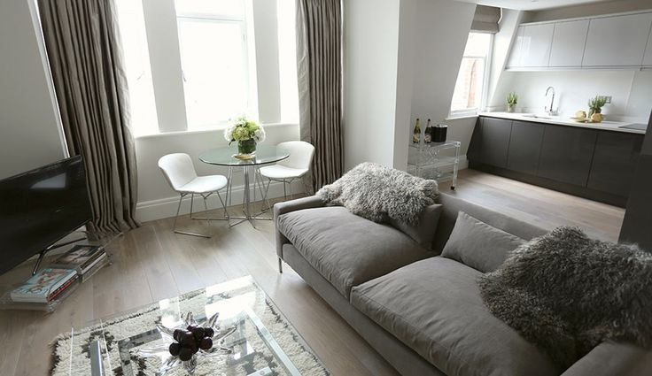 One of the stylish, homely apartments at 56 Welbeck Street, London.