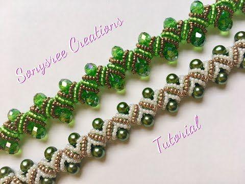 DIY pearl bracelet(zigzag embellishments)(Very clear Tutorial) - YouTube