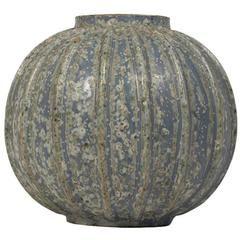 Arne Bang Chrystalline Ribbed Vase