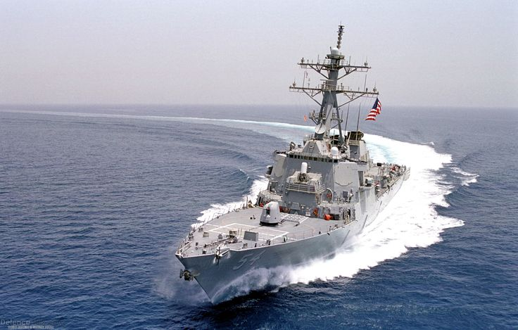 USS Curtis Wilbur (DDG 54) patrols the waters - US Navy - Military Pictures - Air Force Army Navy Missiles Defense