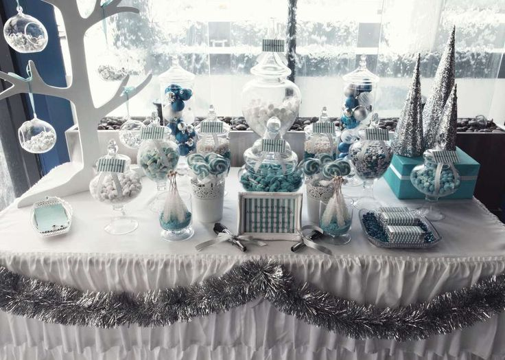 Winter Wonderland Table Decoration Ideas Part - 16: Winter Wonderland Christmas-Holiday Party Ideas