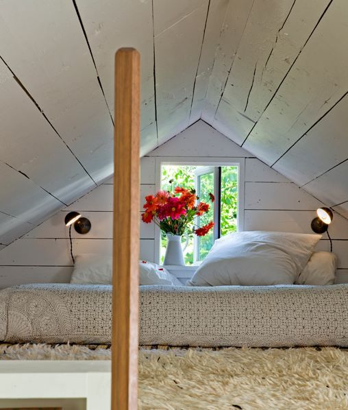 Indretningsarkitekt som har udnyttet sommerhus maksimalt. Hyggelig og charmerende indrettet køkken alrum.