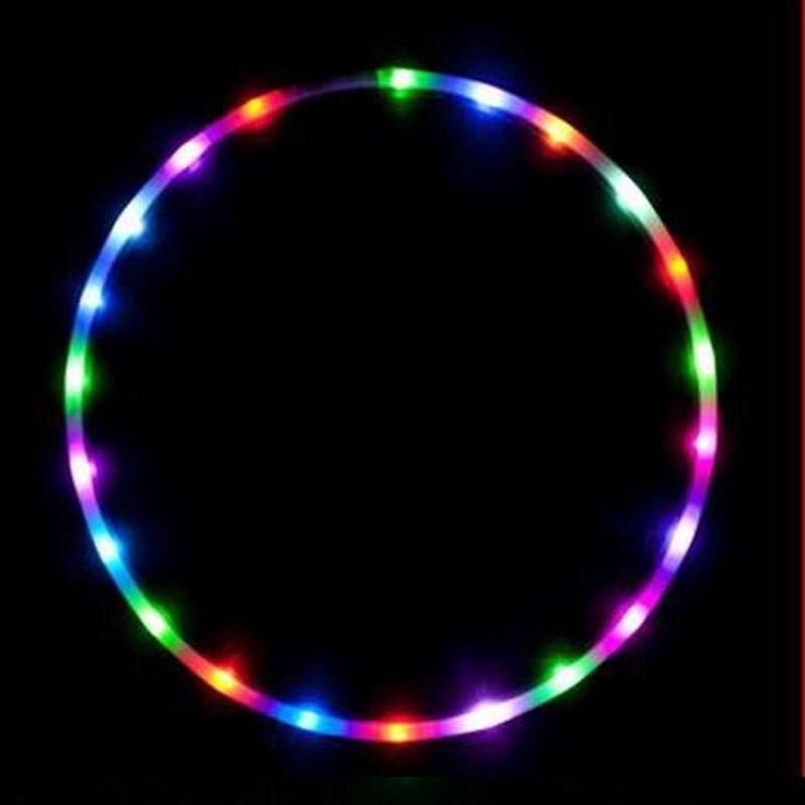 "Hot Sale 36"" / 90cm LED Glow Hula Hoop 24 LED 7 Colors Performance Hoop Sports Toys Loose Weight"