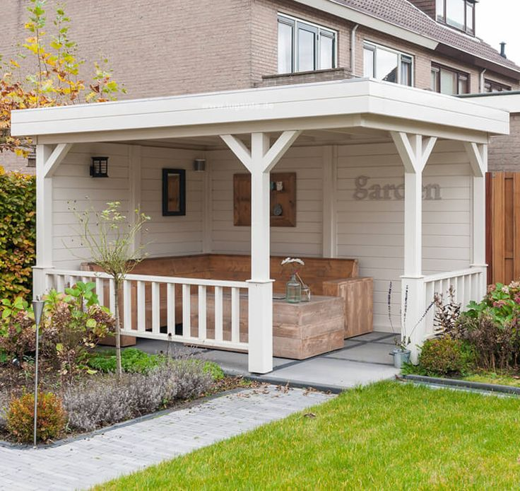 Fresh Freistehende Gartenlaube Norderney von Lugarde mit Flachdach im modernen Look Top Qualit t zum fairen Preis Jetzt entdecken und online bestellen