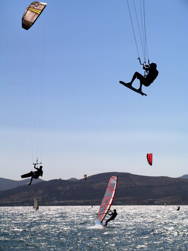 Windsurfing and kitesurfing in Greece