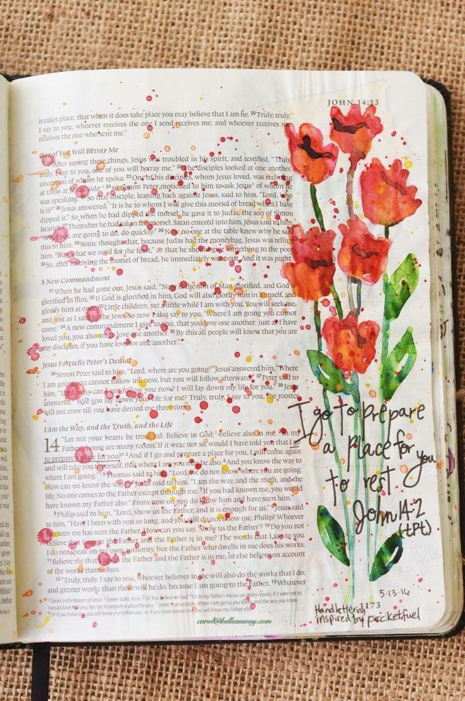 Jean 14 John May watercolor, Illustrated Faith pen, bible art journaling, bible journaling, illustrated faith