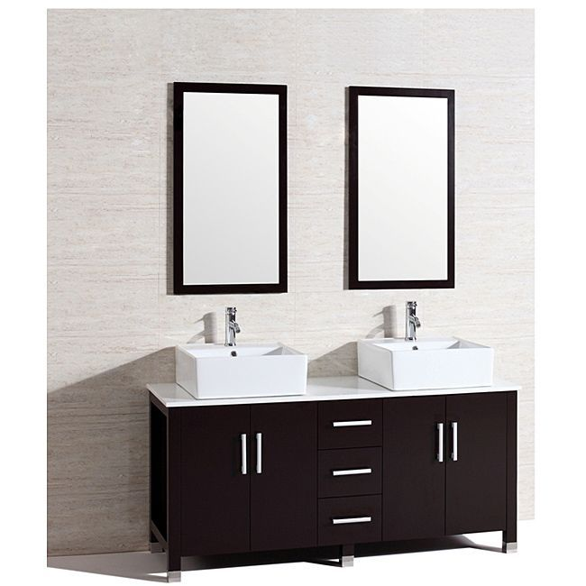 Modern Double 60 Inch Bathroom Vanity/ Sink Set By Kokols