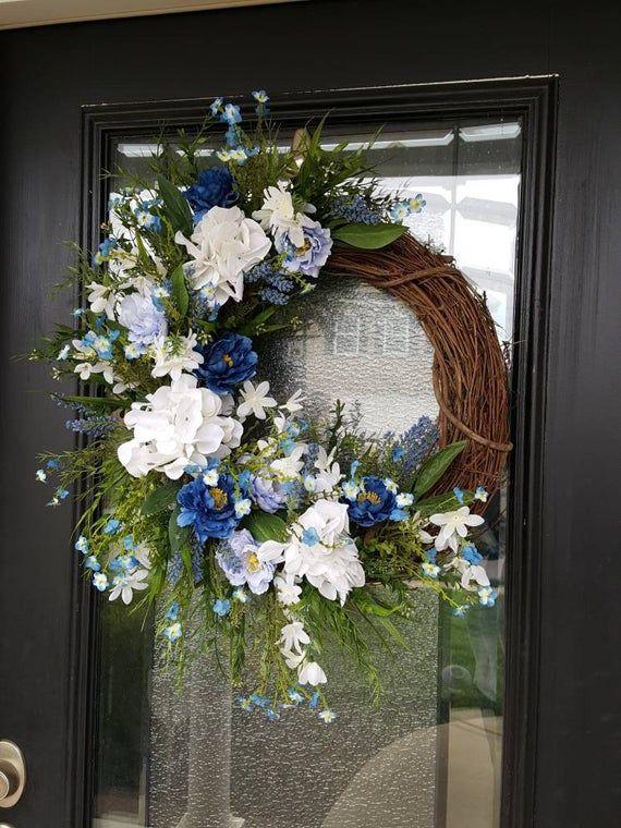 Grapevine Wreath Floral Wreath Flower Wreath Every Day Wreath Country Decor Custom Made Wreath Farmhouse Home Decor MTN Wreaths by Brenda