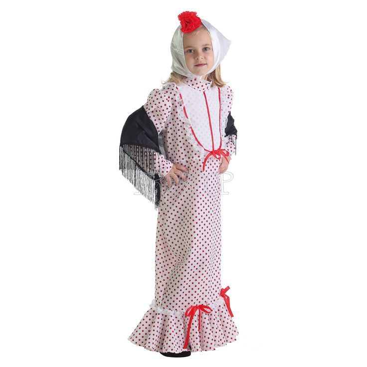 Disfraz Chulapa Coral para niña - Dresoop.es