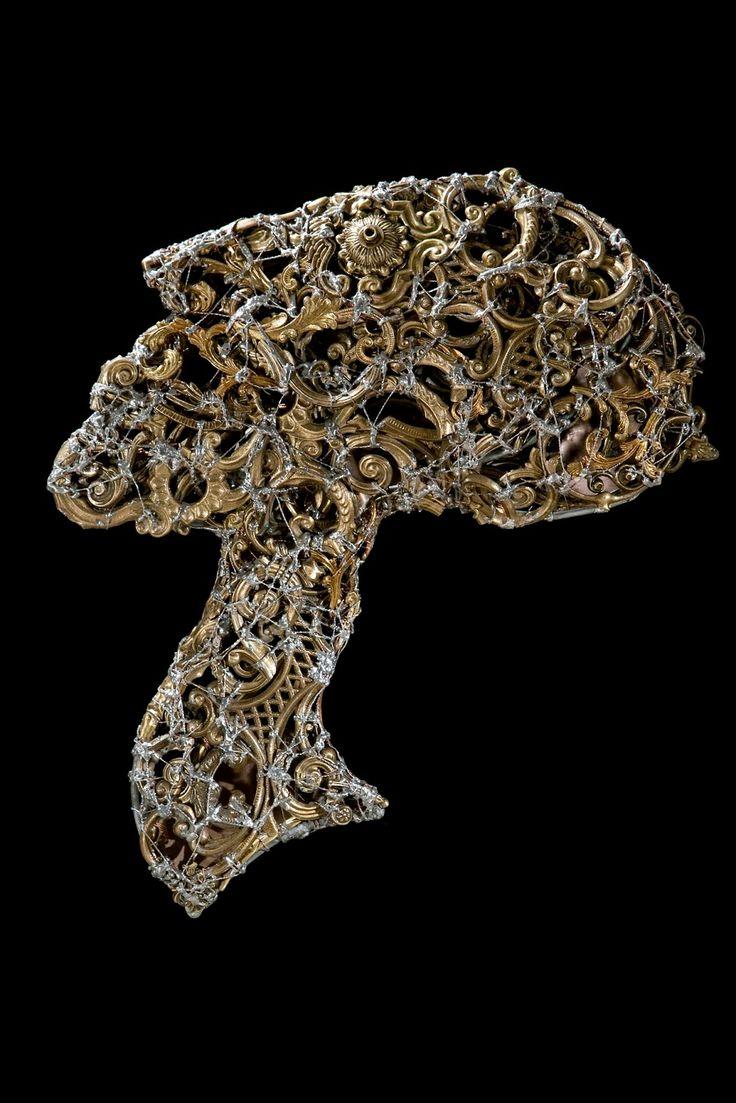 #Selfportrait - (2009) 50x58 - made with #brass #bronze #copper #tin #profile #metal #art #metalart #metalsculptures #sculpture #artist #head