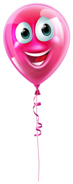 Pink Balloon with Face PNG Clipart Picture