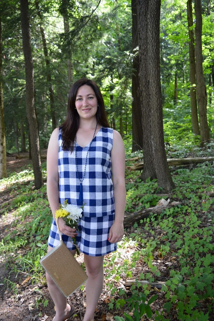Celebrating this Life: Gingham Pond gingham summer outfit old navy gingham shorts