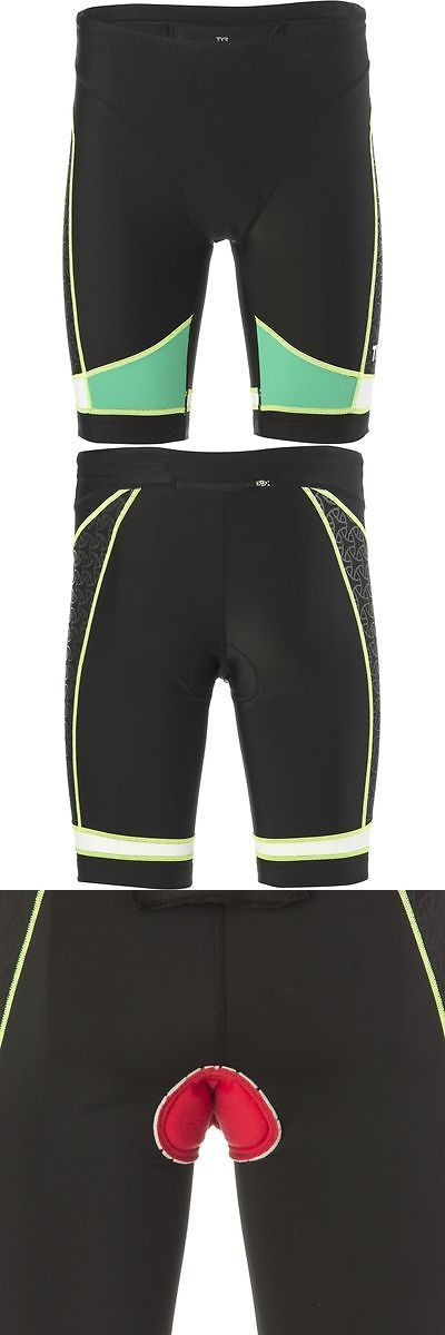 Triathlon 2918: Tyr Competitor 9In Tri Shorts Black/Green/Yellow Xl BUY IT NOW ONLY: $34.97