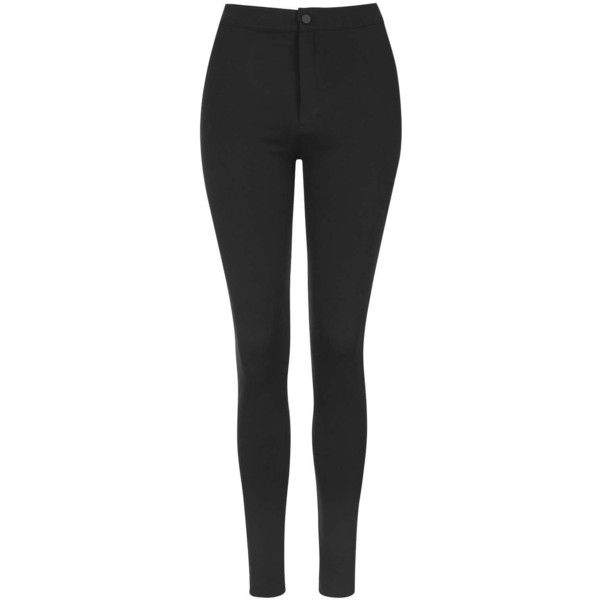 TOPSHOP High-Waist Button Up Leggings found on Polyvore featuring pants, leggings, jeans, bottoms, pantaloni, black, high rise pants, high waisted black leggings, thick black leggings and topshop leggings