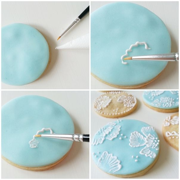 short bread cookies with sugarpaste and royal icing