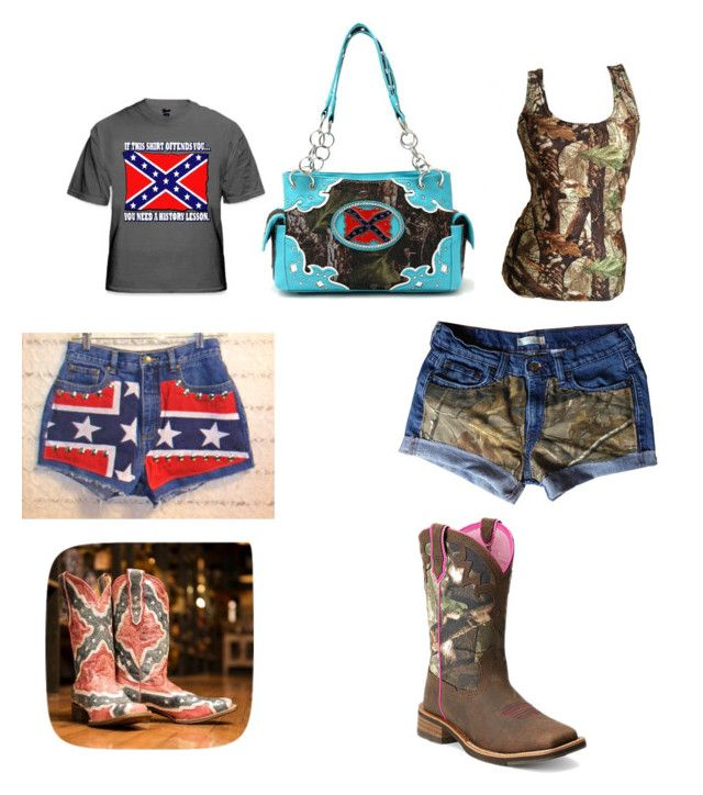 """""""Country and redneck outfit"""" by jessica-smailes ❤ liked on Polyvore featuring Ariat and country"""