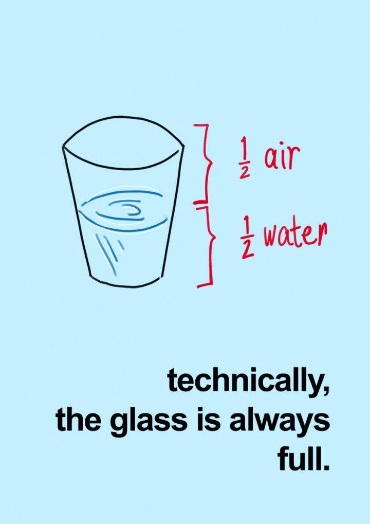Técnicamente, el vaso esta SIEMPRE lleno