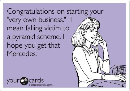 Pyramid scheme. Exactly what I explained to a friend Monday.. Oh well, not my lesson to learn...