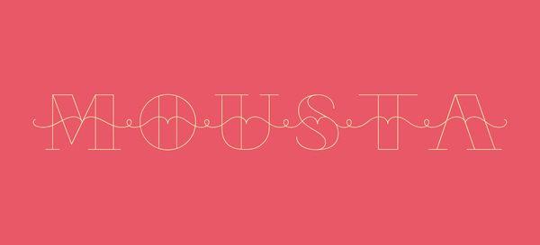 Mousta typeface by Silvia Virgillo