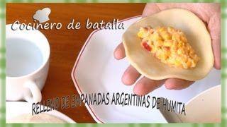 """Relleno de empanada argentina de humita. """"Relleno de humita fácil y sencillo. - YouTube"""