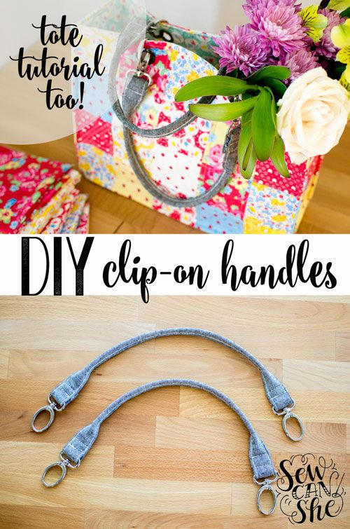 DIY Clip On Tote Bag Handles {free tutorial} | She Sews! | Bloglovin'
