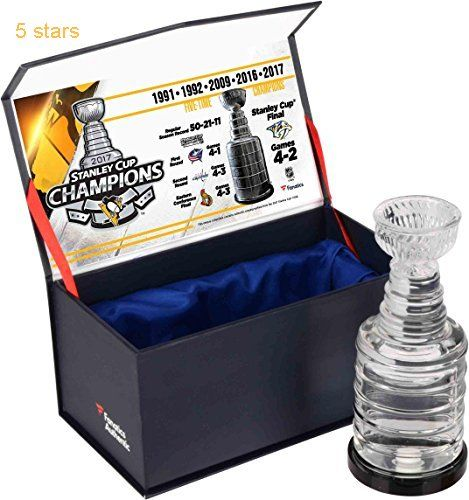 Pittsburgh Penguins 2017 Stanley Cup Champions Crystal Stanley Cup Trophy  Filled With Ice From the 2017 Stanley Cup Final  Fanatics Authentic Certified