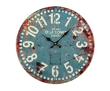 Reloj de pared en metal - turquesa