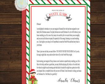 Girl Elf On The Shelf Letter From Santa by BrandyLynnDesigns