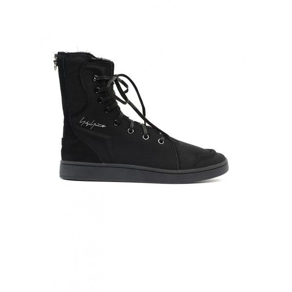 Yohji Yamamoto Textile High-Top Sneakers ($353) ❤ liked on Polyvore featuring shoes, sneakers, high top shoes, yohji yamamoto shoes, yohji yamamoto, high top trainers and hi tops