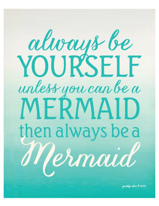 Always Be A Mermaid Beach House Art by prettychicsf                                                                                                                                                                                 More