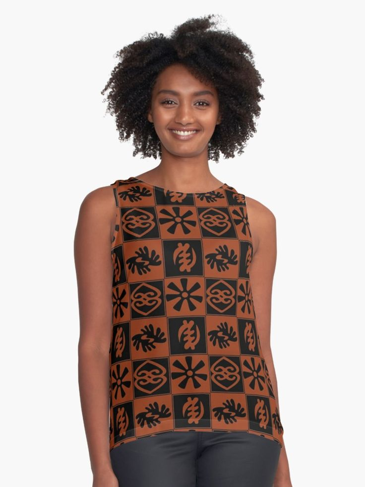 African symbols known as adinkra are ubiquitous in Ghana, a beautiful West African country on the Atlantic, situated between Cote d'Ivoire and Togo. On cloth and walls, in pottery and logos, these Asante tribe symbols can be found everywhere. • Also buy this artwork on apparel, stickers, phone cases, and more.